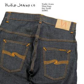 Nudie Jeans ヌーディージーンズ Thin Finn Dry Twill 111085 送料無料 イタリア製 デニム ストレッチ ノンウォッシュ