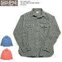 SUGAR CANE  シュガーケーン JEAN CODE WORK SHIRT SC25511 送料無料 日本製 ワークシャツ ジーンコード コードレーン 平織り ダブルエルボー