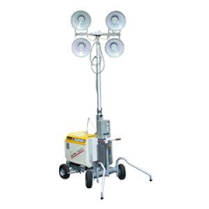 水圧昇降式投光器<アクアテレスコ>(発電機付)4灯式 B-6232