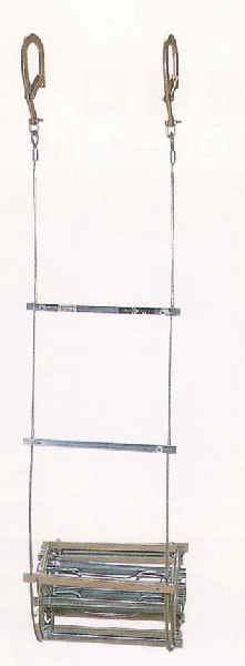 《送料無料!》避難はしご(ワイヤーロープ式) 1号(有効長3.63m)MWIR-1