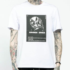 【SALE / 直営店通常価格¥5,379(税込)→30%OFF】【公式】ハイパンダ メンズ HIPANDA宇宙飛行士 モノトーンプリント 半袖Tシャツ HIPANDA MEN'S HIPANDA ASTRONAUT MONOTONE PRINT SHORT SLEEVED T-SHIRT