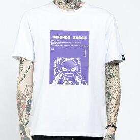 【SALE / 直営店通常価格¥5,379(税込)→30%OFF】【公式】ハイパンダ メンズ HIPANDA宇宙飛行士 パープルカラープリント 半袖Tシャツ HIPANDA MEN'S HIPANDA ASTRONAUT PURPLE PRINT SHORT SLEEVED T-SHIRT
