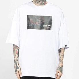 【SALE / 直営店通常価格¥5,379(税込)→30%OFF】【公式】ハイパンダ メンズ 惑星プリント オーバーサイズ 半袖Tシャツ HIPANDA MEN'S PLANET PRINT OVERSIZED SHORT SLEEVED T-SHIRT