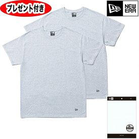 NEWERA Tシャツ 2-Pack Tee パック 2枚セット コットン 11403818 ニューエラ tシャツ グレー new era フラッグロゴ メンズ 半袖 ハーフ