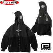 リバーサルWMCBOAFLEECEHOODYボアフリースジャケットブラックBLACK黒reversalREVERSALrvddwプレゼント付rv20aw304防寒ジャケットフーディパーカー