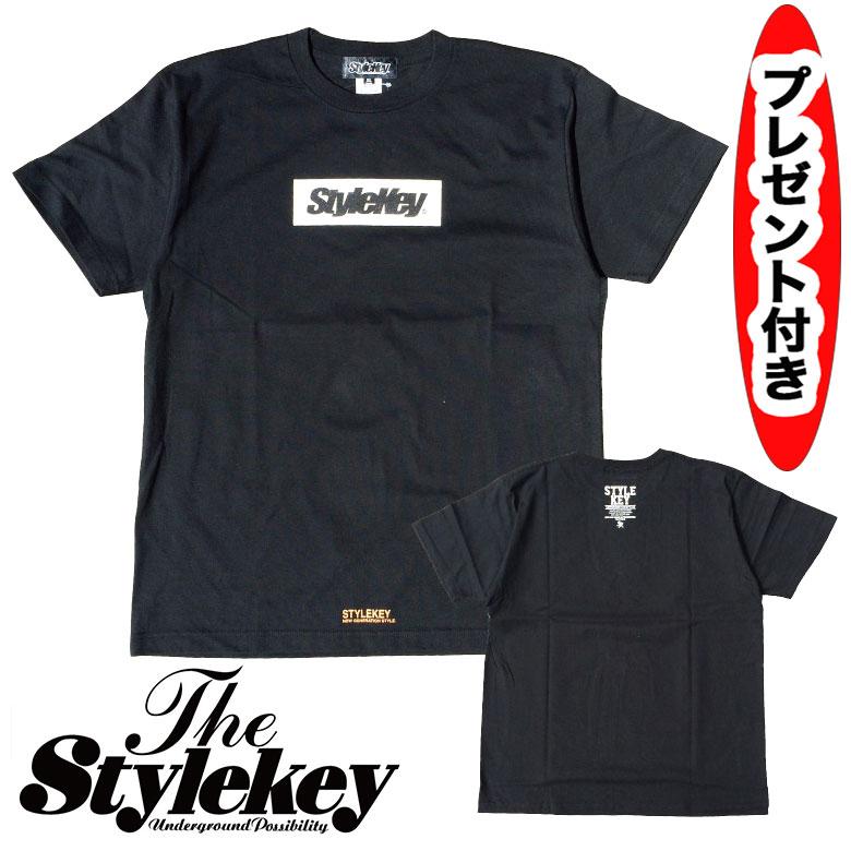 stylekey STYLEKEY スタイルキー BOX LOGO S/S TEE 半袖Tシャツ SK17SP-SS03 オーダーメイド缶バッジプレゼント ハーフ