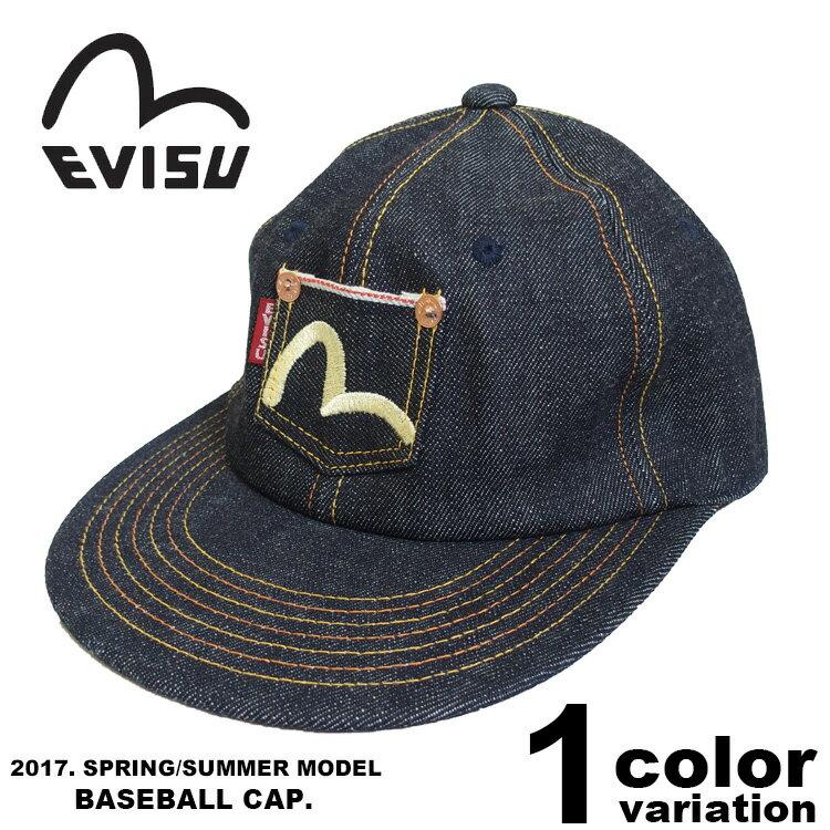 EVISU エヴィス ベースボールキャップ / WIDE-VISOR CAP [EDD-0217LK] 【 エビス evisu EVISU 平つば BBキャップ メンズ 】【あす楽対応】