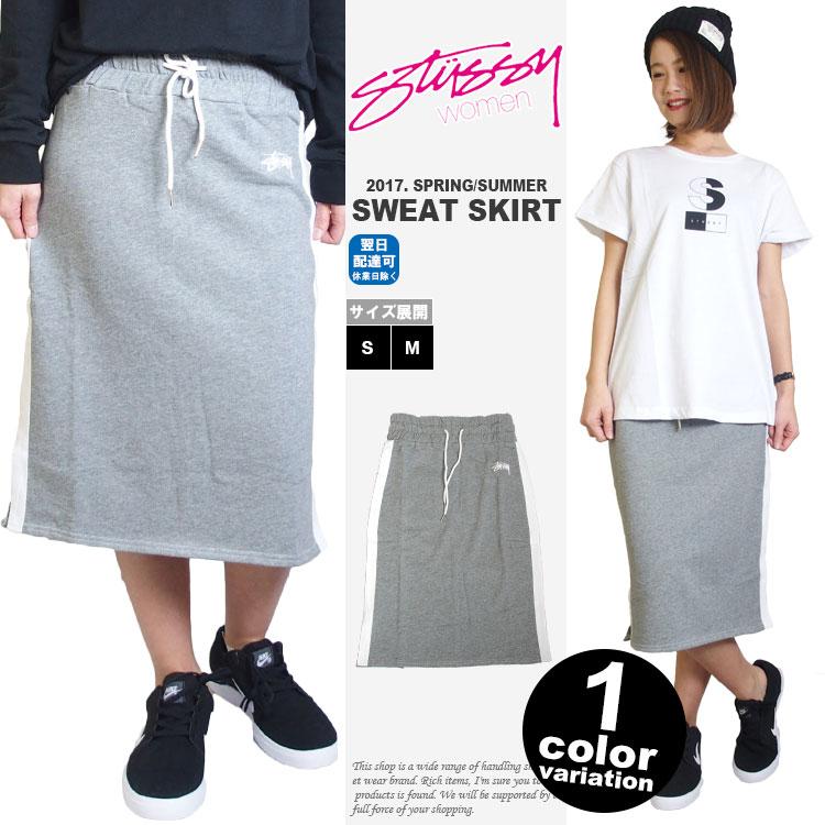 【stussy レディース】 STUSSY WOMEN ステューシー レディース スカート スウェット Dottie Skirt (1色) [214376] 【ステューシー STUSSY 正規 スウェット】 【あす楽対応】