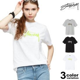 ステューシー STUSSY WOMEN Tシャツ 半袖 レディース Stock Tee (stussy tee ティーシャツ T-SHIRTS カットソー トップス 2903008 ストゥーシー スチューシー) 【あす楽対応】