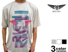 RICH YUNG(リッチヤング)S/SプリントTシャツ/ミラージュ風ロゴ(3色)[10RY-SU-07]【B系/HIPHOP/半袖/新作/ヒップホップ】【あす楽対応】【メール便対応】