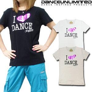 DANCE UNLIMITED (ダンス アンリミテッド) ダンス Tシャツ レディース (3色) 3枚以上で2,552円!! [DU-1407] 【ダンス 衣装 ヒップホップ ズンバウェア ダンス tシャツ レディース フィットネス Tシャツ レ