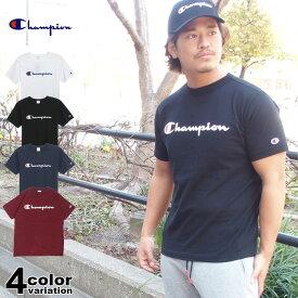 チャンピオン Tシャツ Champion BASIC T-SHIRT メンズ レディース ロゴプリント (4色) [C3-P302] 【チャンピオン tシャツ champion CHAMPION メンズ レディース 大きいサイズ】【あす楽対応】