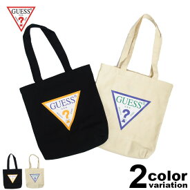 f93e82a2fa2b ゲス GUESS トートバッグ キャンバス TRIANGLE LOGO CANVAS TOTE BAG (guess バッグ エコバッグ カジュアル