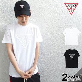 ゲス GUESS Tシャツ 半袖 メンズ レディース Original Triangle Logo PVC Print Tee (guess tシャツ トライアングル ロゴ ティーシャツ T-SHIRTS カットソー トップス MJ2K9406MI) 【あす楽対応】