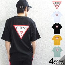 ゲス GUESS ビッグ Tシャツ 半袖 メンズ レディース Original Triangle Logo Back Print S/S Tee (guess tシャツ ビッグロゴ ティーシャツ T-SHIRTS カットソー トップス MJ2K9418) 【あす楽対応】 【メール便対応】