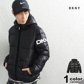 DKNY ダナ・キャラン・ニューヨーク パフジャケット 中綿 ジャケット メンズ Hooded Logo Puff Jacket (dkny ジャケット 防寒 大きいサイズ DX9MN197 2019年 ) 【あす楽対応】