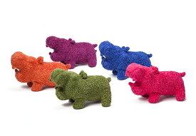 【Hippopotamus】 ヒポポタマスぬいぐるみヒポポタマスのタオル生地で作られたポップなぬいぐるみです。[メール便不可]