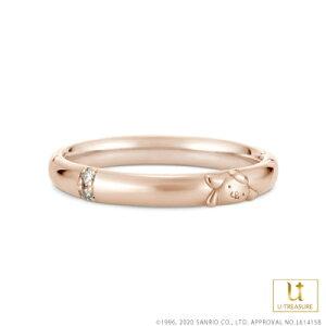 ポムポムプリン 指輪 リング POMPOMPURIN リング レディース 女性 K18ピンクゴールド 結婚指輪 マリッジリング ジュエリー 誕生日 記念日 サンリオ ギフト プレゼント ユートレジャー