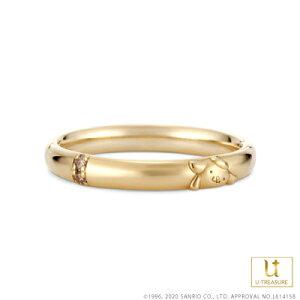 ポムポムプリン 指輪 リング POMPOMPURIN リング レディース 女性 K18イエローゴールド 結婚指輪 マリッジリング ジュエリー 誕生日 記念日 サンリオ ギフト プレゼント ユートレジャー
