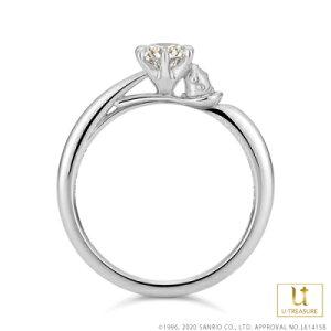 ポムポムプリン 指輪 リング POMPOMPURIN リング レディース 女性 K18ホワイトゴールド 婚約指輪 エンゲージリング ジュエリー 誕生日 記念日 サンリオ ギフト プレゼント ユートレジャー