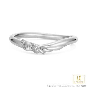 星のカービィ リング 指輪 スターロッド -Star Rod- /リング メンズ K18ホワイトゴールド 結婚指輪 マリッジリング ブライダルリング ジュエリー ペア 男性 個性的 結婚 記念日 プレゼント
