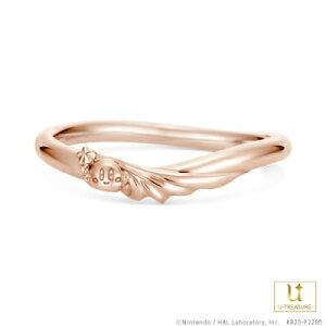 星のカービィ リング 指輪 スターロッド -Star Rod- /リング メンズ K18ピンクゴールド 結婚指輪 マリッジリング ブライダルリング ジュエリー ペア 男性 個性的 結婚 記念日 プレゼント