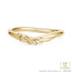 星のカービィ リング 指輪 スターロッド -Star Rod- /リング メンズ K18イエローゴールド 結婚指輪 マリッジリング ブライダルリング ジュエリー ペア 男性 個性的 結婚 記念日 プレゼント