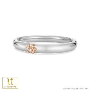 カードキャプターさくら リング 指輪 CCさくら くま ペアリング プラチナ×K18ピンクゴールド 男女兼用 レディース メンズ 結婚指輪 マリッジリング ブライダルリング 個性的 キャラクター 結