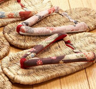 玄関履きや室内履きに…ひらいやオリジナル竹皮ぞうり