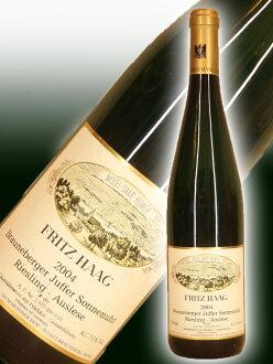 Fritz ハークブラウネベルガーユッファーゾンネンウーアゴールドカプセルアウスレーゼ AP12 Riesling [2004]Brauneberger Juffer-Sonnenuhr Auslese Goldkapsel AP12 Fritz Haag