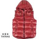 TATRAS タトラス メンズ ダウンベスト POSEIDONE MTA20A4564 RED レッド【セール商品のため返品交換不可】
