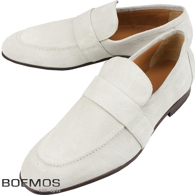 BOEMOS ボエモス メンズ スウェード レザーシューズ TA186307 A オフホワイト