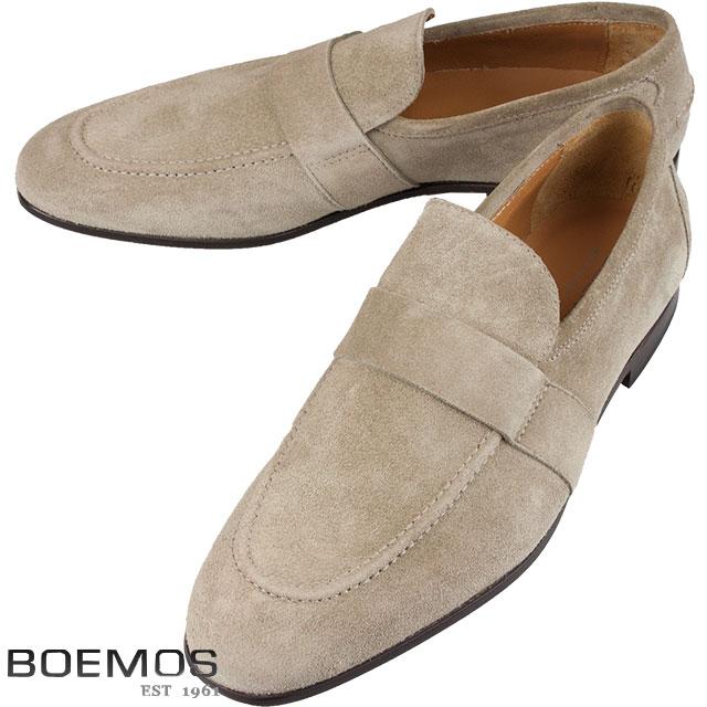 BOEMOS ボエモス メンズ スウェード レザーシューズ TA186307 D ベージュ