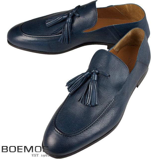 BOEMOS ボエモス メンズ タッセル レザーシューズ TA186301 B JEANS