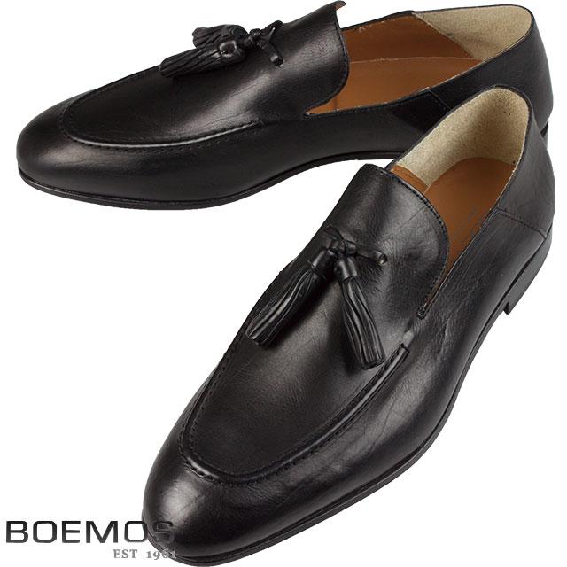BOEMOS ボエモス メンズ タッセル レザーシューズ TA186301 C ブラック