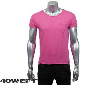 40WEFT フォーティー ウエフト メンズ 半袖クルーネックTシャツ PATRICK 19114 2693 12 ピンク