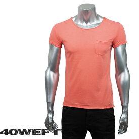 40WEFT フォーティー ウエフト メンズ 半袖クルーネックTシャツ PATRICK 19114 2693 24 オレンジ