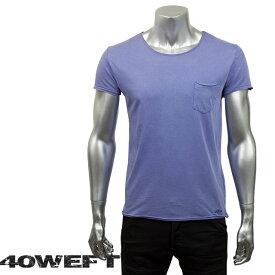 40WEFT フォーティー ウエフト メンズ 半袖クルーネックTシャツ PATRICK 19114 2693 80 パープル