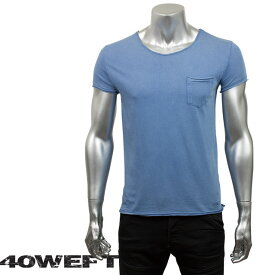 40WEFT フォーティー ウエフト メンズ 半袖クルーネックTシャツ PATRICK 19114 2693 66 ライトブルー