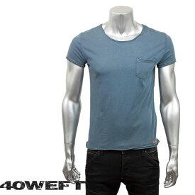 40WEFT フォーティー ウエフト メンズ 半袖クルーネックTシャツ PATRICK 19114 2693 63 ブルー