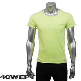 40WEFT フォーティー ウエフト メンズ 半袖クルーネックTシャツ PATRICK 19114 2693 41 イエローグリーン