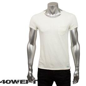 40WEFT フォーティー ウエフト メンズ 半袖クルーネックTシャツ PATRICK 19114 2693 31 オフホワイト