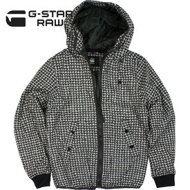 G-STAR RAW ジースター ロゥ メンズ ナイロン アウター Whistler Meefic Padded Hooded Jacke D10694 A557 9786 IVORY/RAVEN【セール商品のため返品交換不可】