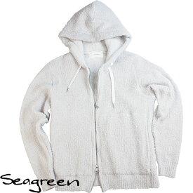 Seagreen シーグリーン メンズ パイル地パーカー MSG18S9006 LGRAY ライトグレー【セール商品のため返品交換不可】