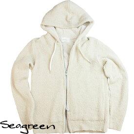 Seagreen シーグリーン メンズ パイル地パーカー MSG18S9006 BEIGE ベージュ【セール商品のため返品交換不可】