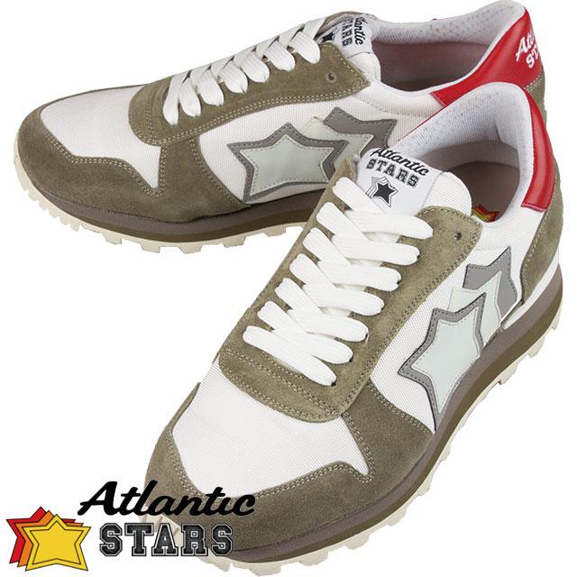 Atlantic STARS アトランティックスターズ メンズ シューズ SIRIUS BS PR LSGB WHITE ホワイト×カーキ