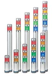 1段PATLITE LED超小型層疊信號燈MES-102A-R DC24V 0.6W短身體