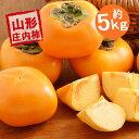 (予約)(早割)(送料無料)山形産 庄内柿 Lサイズ以上 贈答にも最適 約5kg(25玉〜30玉前後) 送料無料2,980円 (しょうな…