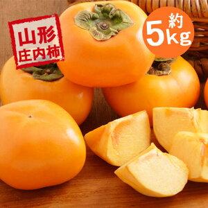 (予約)(送料無料)山形産 庄内柿 Lサイズ以上 贈答にも最適 約5kg(25玉〜30玉前後) 送料無料(しょうないがき) 11月上旬頃から順次発送開始予定