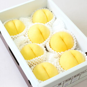 (予約)(送料無料)【山形県産 黄金桃約2キロ化粧箱入 6玉〜8玉】【白桃 はくとう】